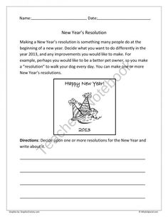 Years on Pinterest | New Year's Resolutions, Worksheets and New Year's ...