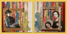 mm 280 gelli prints, kant, afbeeldingen Mixed Media, Collage, Prints, Painting, Art, Craft Art, Painting Art, Kunst, Collage Art