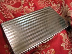 This could really be my new cell phone case - for $49  Swank Cigarette Case/Card Case from England by StrayDogAntiquesEtc