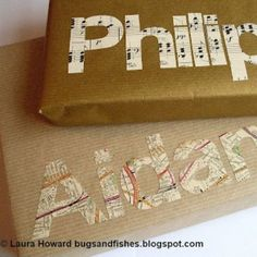 Gift Wrapping Idea--LOVE THIS, so simple!