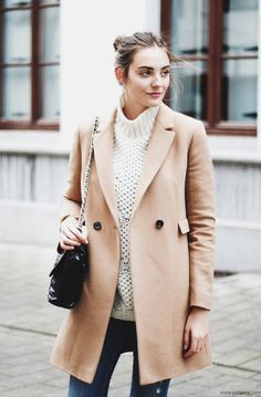 Polienne | a personal style diary: CAMEL COAT MASSIMO DUTTI camel coat / ZARA knit & bag H&M skinny jeans / CONVERSE chucks