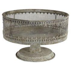An Antique Metal fruit bowl