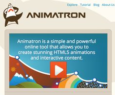 Animatron is a simple and powerful online tool that allows you to create stunning HTML5 animations and interactive content.