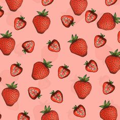 Strawberry Pattern by Janelle-Dimmett