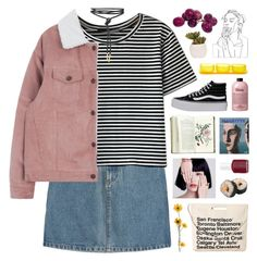 """""""you're my pretty little vixen"""" by hhuricane ❤ liked on Polyvore featuring A.P.C., WithChic, Vans, Chicnova Fashion, Lux-Art Silks, Tina Frey Designs, philosophy and Essie"""