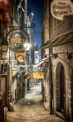 Photographic Print: Mont Saint Michel La Grande Rue by Philippe Manguin : Places Around The World, Oh The Places You'll Go, Places To Travel, Travel Destinations, Places To Visit, Around The Worlds, Travel Tips, Mt St Michel, Mont Saint Michel France