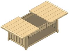 Free and easy woodworking plans with step by step photos showing you how to build a DIY coffee table with drawers on both sides for