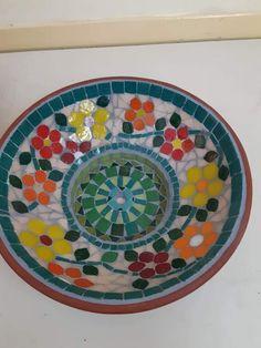 Diy Bird Bath, Mosaic Pots, Lazy Susan, Plates, Tableware, Garden, Licence Plates, Dishes, Dinnerware