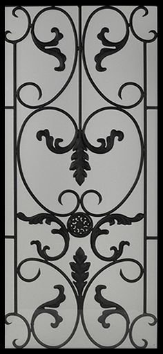 Wrought Iron Door Inserts   Medeici 22x48 Greater Toronto Area, Wrought  Iron Doors, Stained