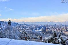 """Torino magica, si sveglia """"sbianchettata"""" dalla neve (30-1-2015) foto di Valerio Minato"""