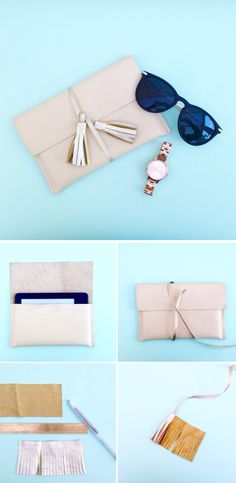 Follow this DIY blog to make this stylish leather iPad cover with gold tassel strap. On hellomarilu.com