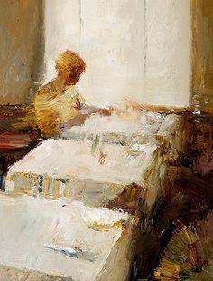 """Danny McCaw - Morris & Whiteside Galleries """"Backlit Oil"""" #art #painting #oil"""