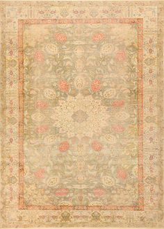 Antique Silk Turkish Kayseri Shabby Chic Rug 48938