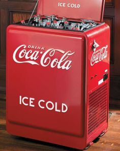 This Rolling Coca-Cola Cooler is the same one you saw at the barber shop or corner store.