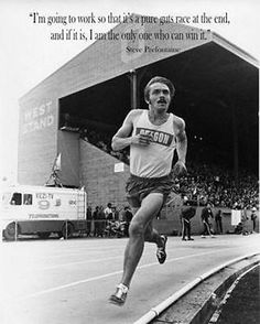 Steve Prefontaine Oregon Cross Country Running Extra Large Fabric Poster