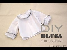 DIY Costura de blusa para bebe (patrón gratis) - YouTube