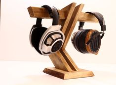 Wood Headphone Stand/ Multiple Headphone by WoodWarmth on Etsy