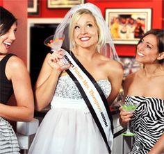 Personalized Bridal Entourage Bachelorette Wedding Party Sash & Veil Set