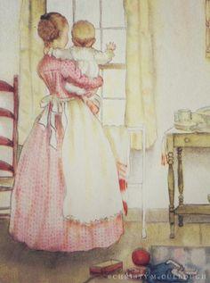 tasha tudor illustrations | dear mother and baby illustrated by Tasha Tudor.