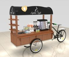 Unique Kiosk is a Professional Food Cart Manufacturer, We Supply Custom Bike Food Cart For Sale, Mobile Concession Stand Design For USA & Canada. Mobile Coffee Cart, Mobile Food Cart, Food Cart Business, Coffee Business, Food Cart Design, Food Truck Design, Coffee Carts, Coffee Shop, Food Carts For Sale