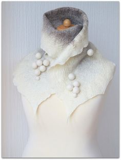 Hey, I found this really awesome Etsy listing at http://www.etsy.com/listing/156092271/finnish-winter-white-wet-felted-warm