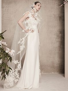 aebd4a3a6c7 Elie Saab Bridal Spring 2018 Collection has 13 looks ranging from  floor-sweeping gowns to a wide-legged jumpsuit primed for the modern bride.