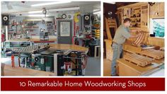 10 inspiring home woodworking shops!