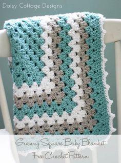 Granny Square Pattern - A free crochet pattern