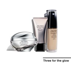 Try these 3 #skincare must-haves for a brilliant complexion, and you're good to glow. #skin #beauty #skincareroutine #Shiseido