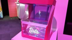 This hologram Barbie lives in a box can tell you to brush your teeth     - CNET First came Hello Barbie the doll in 2015. Now Barbie is ready to move and talk on her own  but instead of a robot shes a hologram.  Mattel is showing off Hello Barbie Hologram this weekend at the New York Toy Fair. The toy puts an animated Barbie character on a bedside table almost like a little fairy.  The hologram lives inside of a box waiting for a child to ask her to dance or take questions.  Hello Barbie…