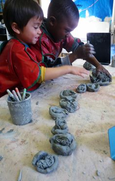 Beautiful Reggio Blog Recording memory in clay, paint, pencil Nightmare paintings to affirm power in the child