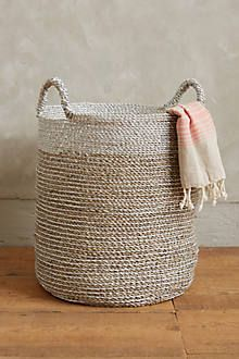 Banded Seagrass Baskets - anthropologie.com