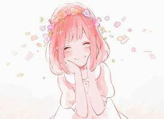 anime, kawaii, and pink resmi Pink Hair Anime, Anime Girl Pink, Manga Girl, Anime Art Girl, Anime Girls, Manga Kawaii, Kawaii Anime Girl, Anime Style, Flower Crown Tumblr