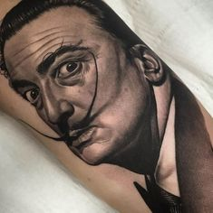 Tattoos Inspired by Salvador Dali. by Duncan Whitfield. #inked #Inkedmag #tattoo #salvadordali #art #realism #portrait