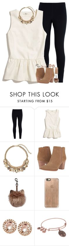 """stay strong💖💖"" by xoxorachelizabeth ❤ liked on Polyvore featuring NIKE, Madewell, Chico's, Franco Sarto, Casetify, Alex and Ani and Trish McEvoy"