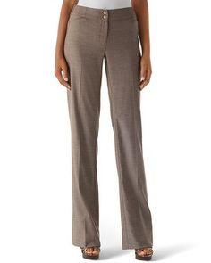 White House | Black Market Espresso Tweed Suit Pant