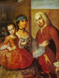 De Español y Mestizo 1763 Castizo de Miguel Cabrera