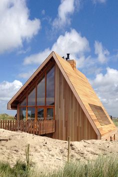 North Sea Wood House Framed in Siberian Larch and Clad in Western Red Cedar is part of Tiny house wood House Cabin Green Life North Sea Wood House Framed in Siberian Larch and Clad in Western Red C - A Frame Cabin, A Frame House, Architecture Design, Modern Residential Architecture, Cabins And Cottages, Log Cabins, Western Red Cedar, Little Houses, Tiny Houses