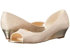 Blinged out wedges in Champagne | Nina Rally - Zappos.com $89