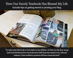 A family yearbook. Great idea to capture and organize a year's worth of photos. However, I went and used Shutterfly with their free photo book promotion codes instead to save money. Free Photo Book, Photo Books, Create Photo Album, Family Yearbook, Life App, Family Photo Album, Create A Family, Family Memories, Memory Books