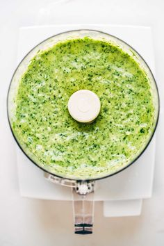5 Minute Magic Green Sauce! Made with avocados, parsley, cilantro, garlic, and lime.