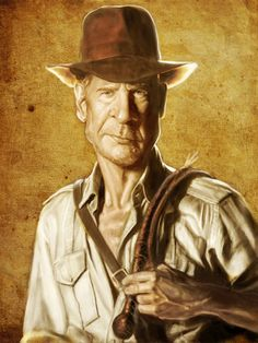 Caricatures by Mark Hammermeister  Harrison Ford: Raiders of the Lost Ark