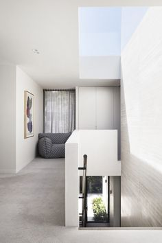 Conjuring up a mood of understated elegance with a strong connection to its landscaped surroundings, C Residence by Studio Tate is anything but suburban. Formal Living Rooms, Living Spaces, Timber Screens, Study Nook, Pivot Doors, Storey Homes, Interior Design Studio, Concrete Floors, Interior Architecture