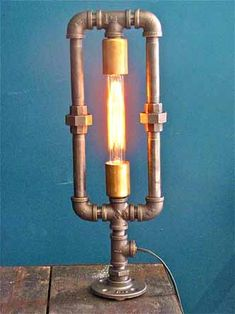 plumbing pipe lamp by john atwater
