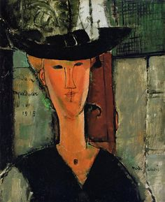 Madame Pompador 1915 | Amedeo Modigliani | Oil Painting #modglianipaintings