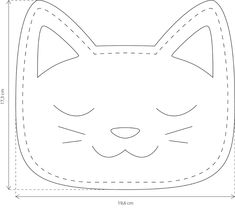 Cat Crafts, Sewing Crafts, Sewing Projects, Stuffed Animal Patterns, Diy Stuffed Animals, Chat Kawaii, Felt Pillow, Diy Bags Purses, Bag Pattern Free