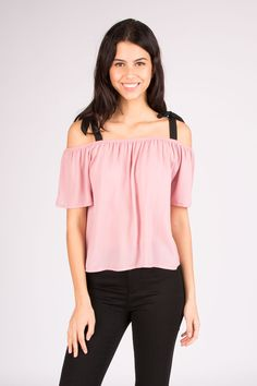 Bluenotes Cold Shoulder Top with Contrast Straps