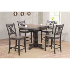 You'll love the Double X- Back Counter Height 5 Piece Pub Table Set at Wayfair - Great Deals on all Furniture products with Free Shipping on most stuff, even the big stuff.