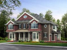 Elevation of Colonial   Country   Luxury   Traditional   House Plan 87582