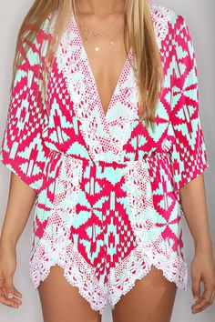 little miss aztec crochet romper